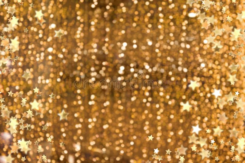 Fondo dorato scintillante fotografie stock