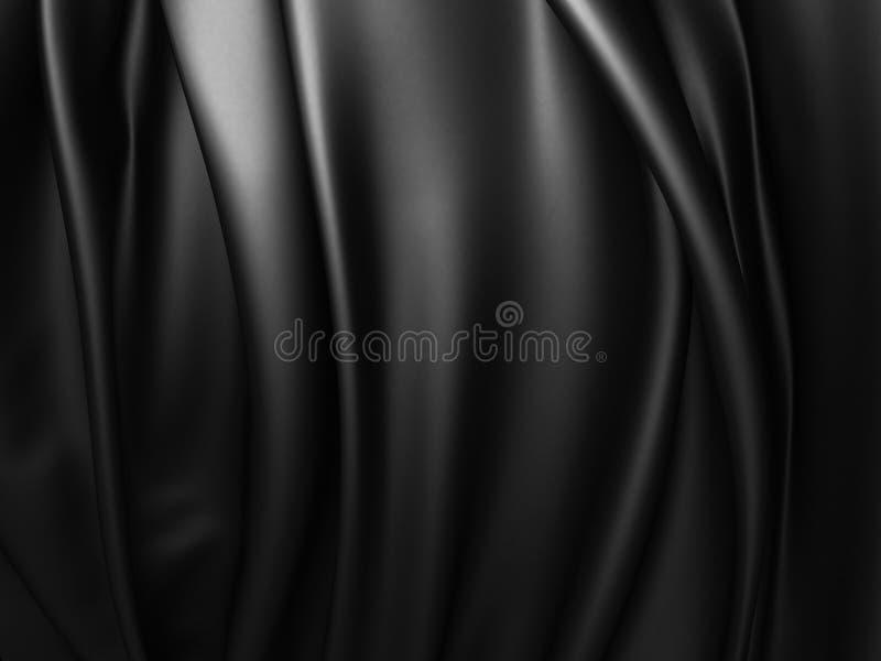 Fondo dramático abstracto negro del paño stock de ilustración