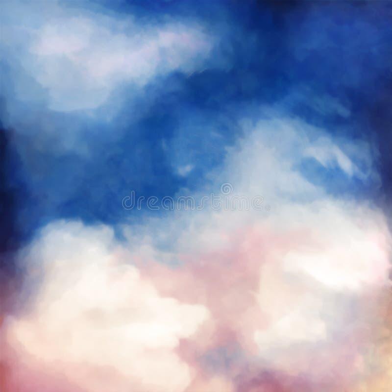 Fondo dramático de la pintura del cielo fotografía de archivo