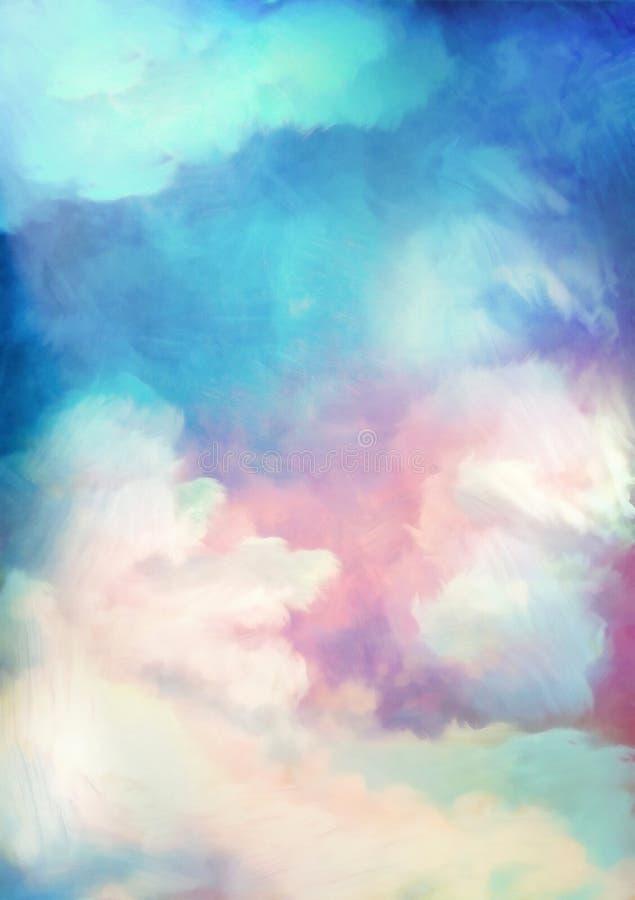Fondo dramático de la pintura del cielo ilustración del vector