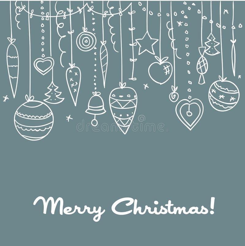 Fondo drenado mano de la Navidad stock de ilustración