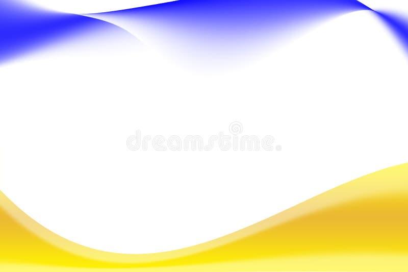Fondo e giallo bianchi, banda blu immagini stock libere da diritti