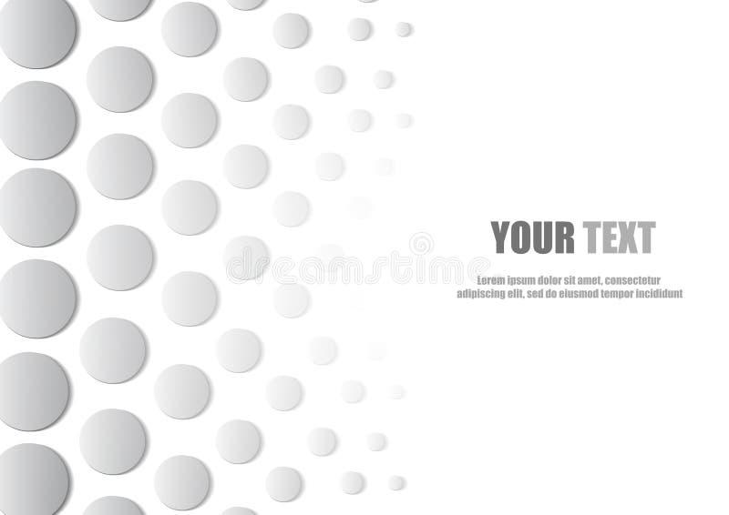 Download Fondo E Spazio Astratti Di Stile Del Cerchio Per Testo Illustrazione Vettoriale - Illustrazione di moderno, colore: 56878501