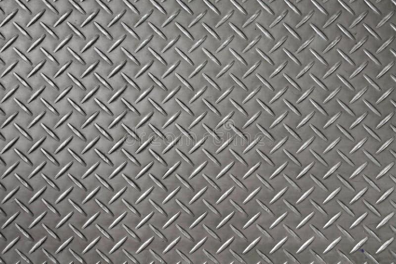 Fondo e struttura del piatto del diamante del ferro fotografie stock