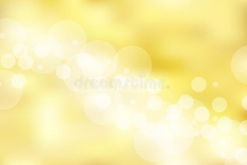 Fondo e struttura dell'oro con bokeh elegante, brillante, di lusso, illustrazione vettoriale