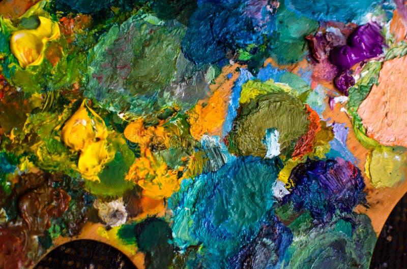 Fondo e struttura dipinti della tela per l'artista immagini stock libere da diritti
