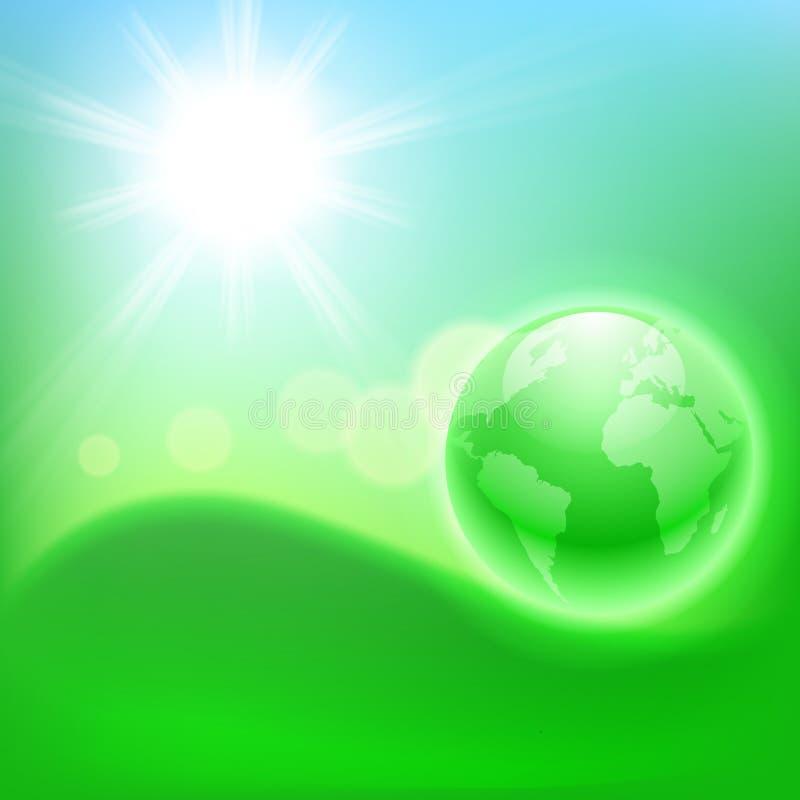 Fondo ecológico del concepto con el globo. libre illustration
