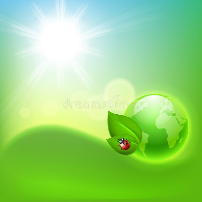 Fondo ecológico del concepto con el globo libre illustration