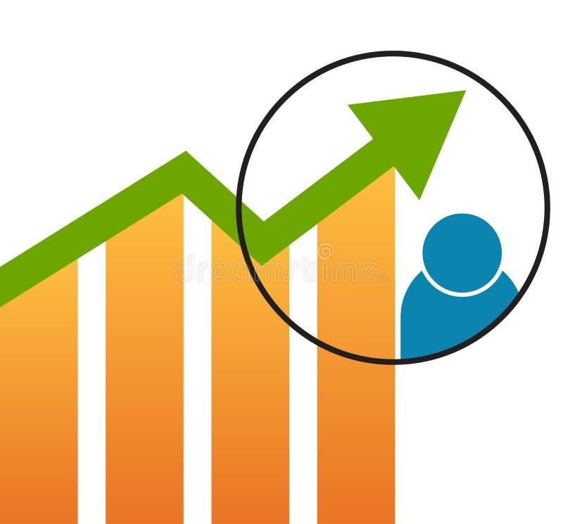 Fondo económico de la carta de la flecha del gráfico ilustración del vector