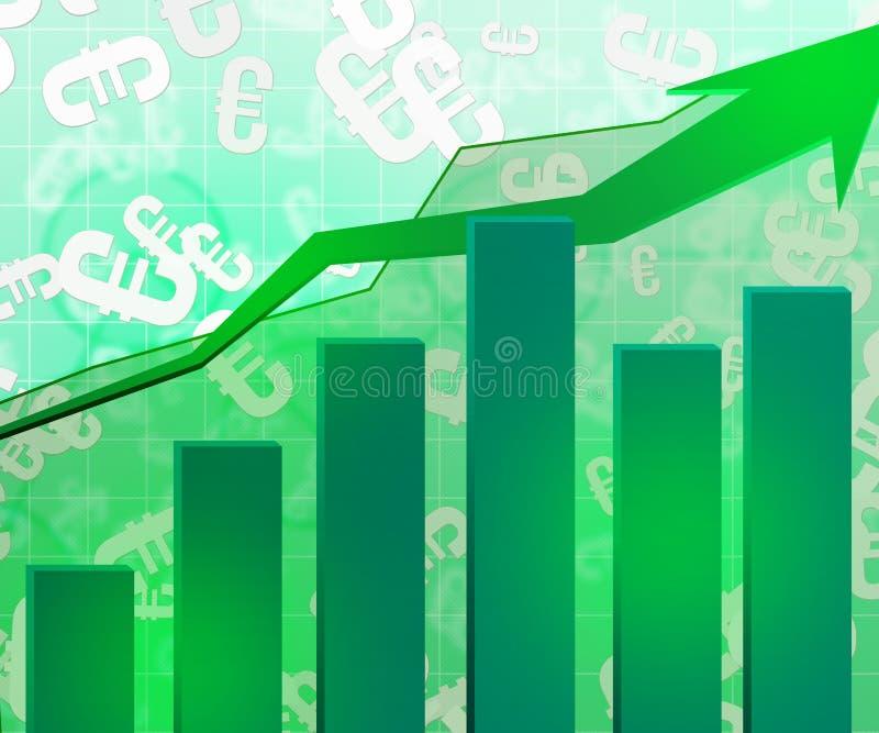 Fondo economico verde del grafico illustrazione di stock