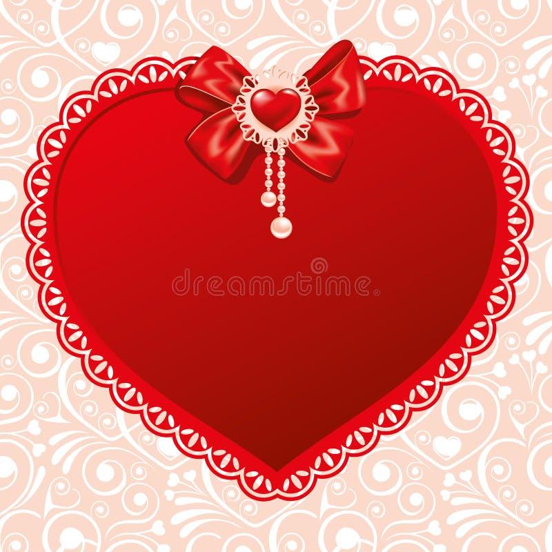 Fondo el día de tarjetas del día de San Valentín ilustración del vector