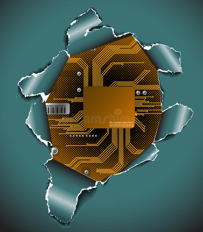 Fondo electrónico abstracto libre illustration