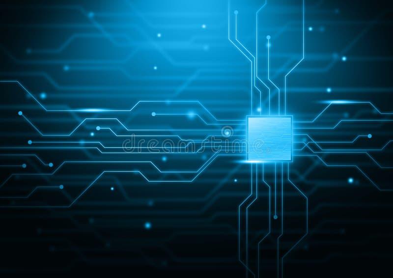 Fondo electrónico y de la tecnología del tema stock de ilustración