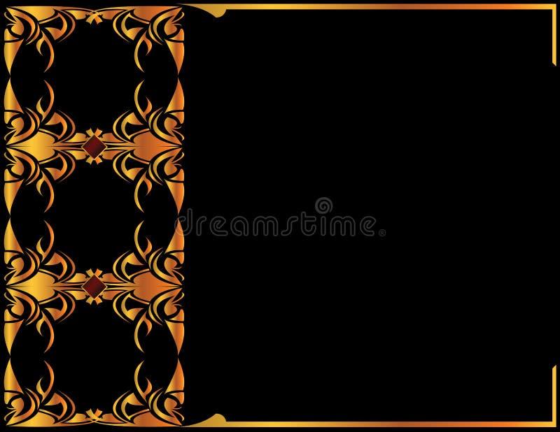 Fondo elegante 2 del oro ilustración del vector