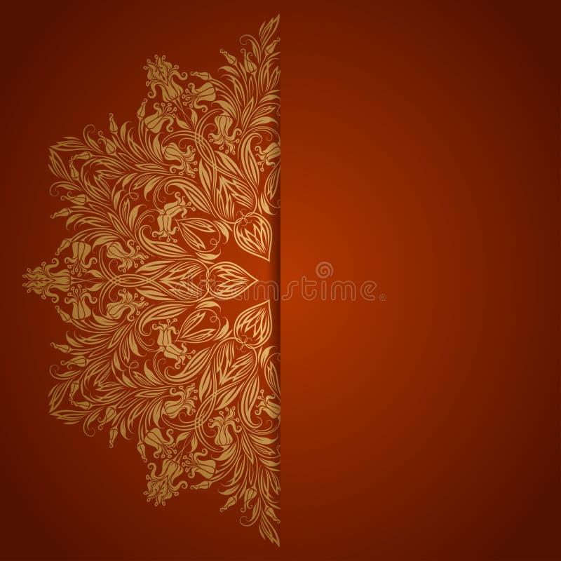 Fondo elegante con el ornamento del cordón ilustración del vector