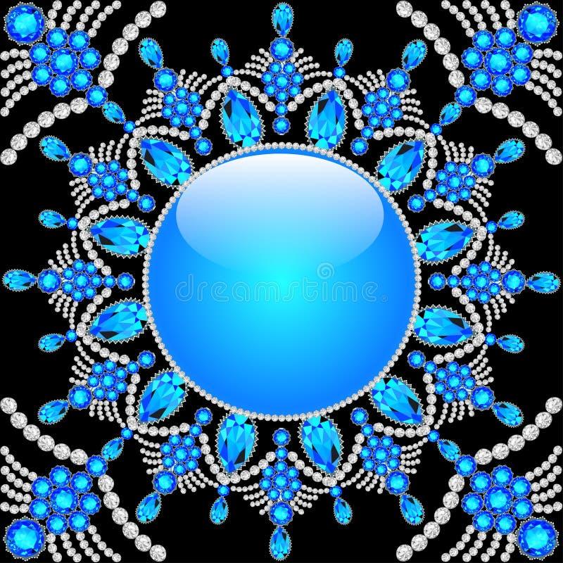 Fondo elegante con l'ornamento circolare royalty illustrazione gratis