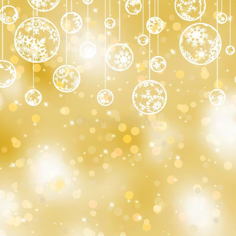 Fondo elegante de la Navidad del oro. EPS 8 ilustración del vector