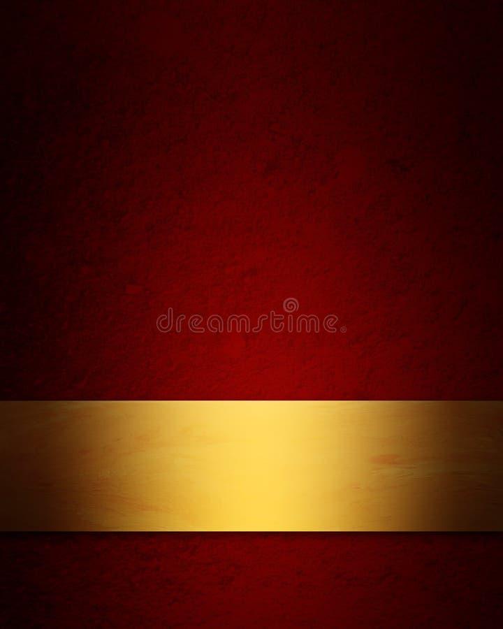 Fondo elegante de la Navidad del rojo y del oro stock de ilustración