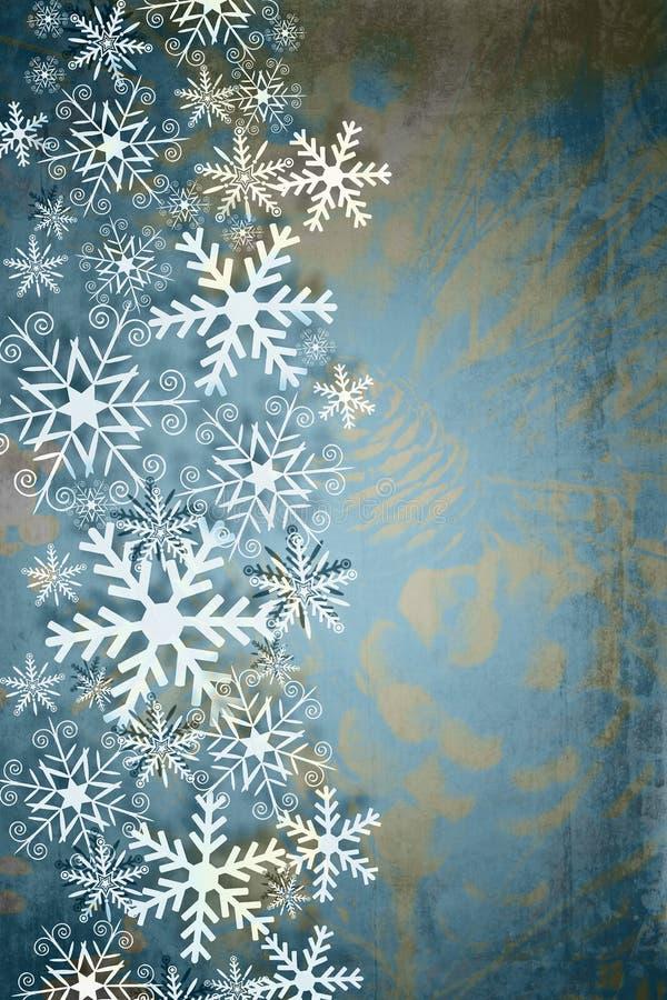 Fondo elegante de la Navidad en tono del dúo stock de ilustración