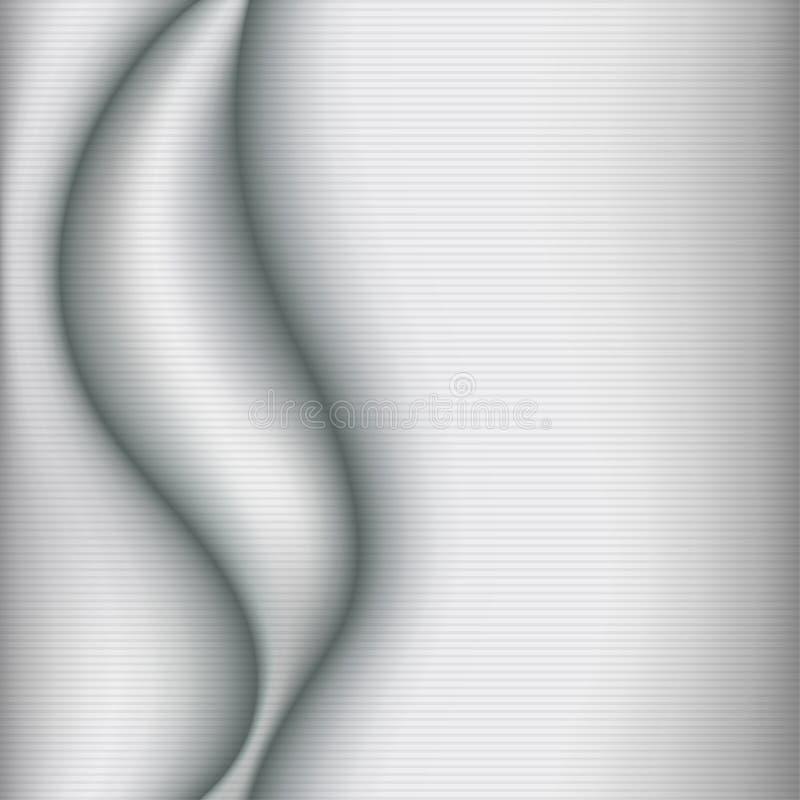 Fondo elegante de los gris plateados ilustración del vector