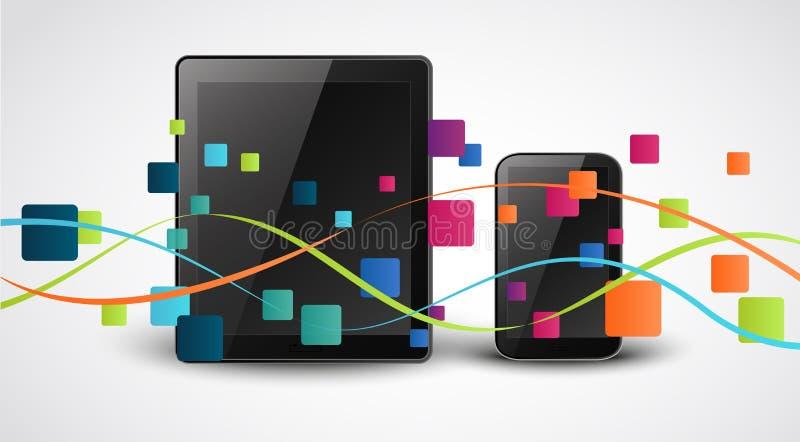 Fondo elegante del concepto del icono de los apps del teléfono ilustración del vector