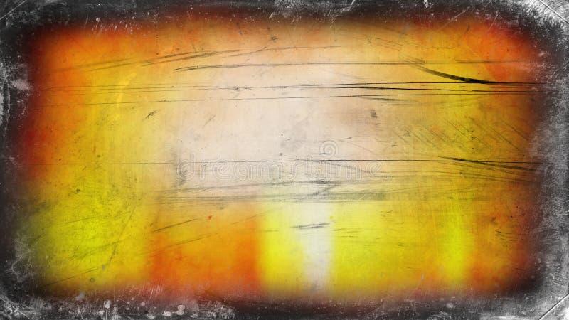 Fondo elegante del diseño del arte gráfico del ejemplo de la naranja y de Grey Grunge Texture Background Beautiful ilustración del vector