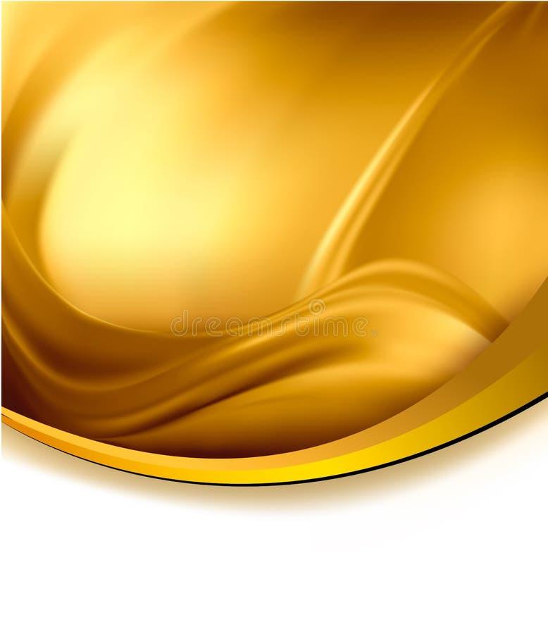 Fondo elegante del extracto del oro del asunto. libre illustration