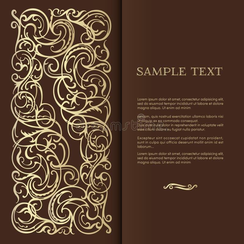 Fondo elegante del vintage para el texto ilustración del vector