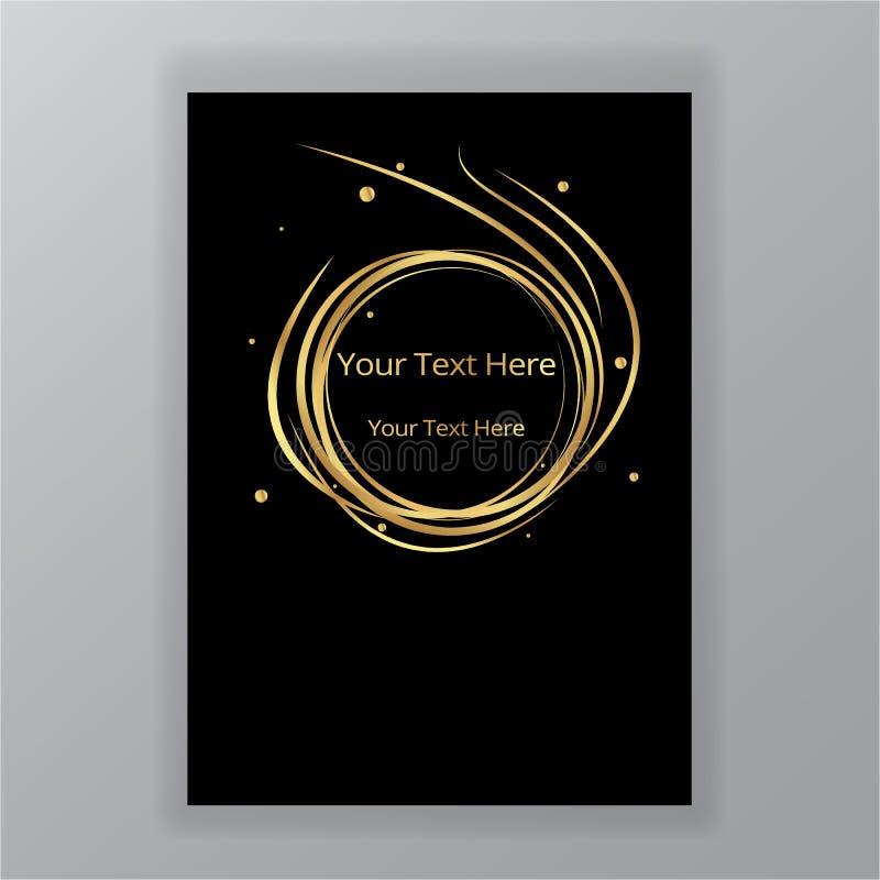 Fondo elegante di lusso del cerchio nero dorato dell'estratto royalty illustrazione gratis