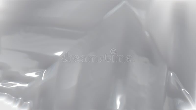Fondo elegante hermoso brillante del diseño del arte gráfico del ejemplo de Grey Wrinkled Plastic Texture Background stock de ilustración