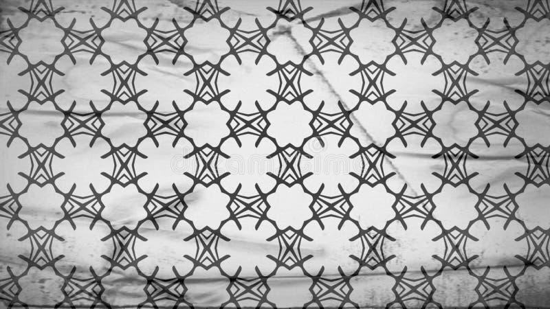 Fondo elegante hermoso del diseño del arte gráfico del ejemplo de Grey Floral Geometric Wallpaper Pattern stock de ilustración
