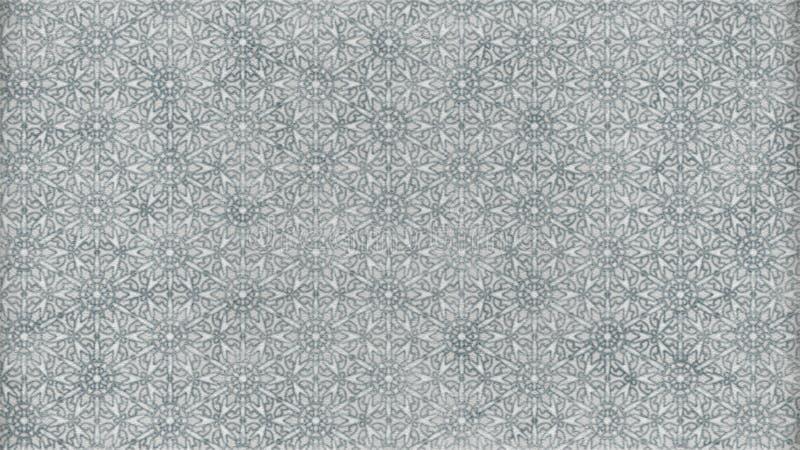 Fondo elegante hermoso del diseño del arte gráfico del ejemplo de Grey Geometric Ornament Pattern Wallpaper ilustración del vector