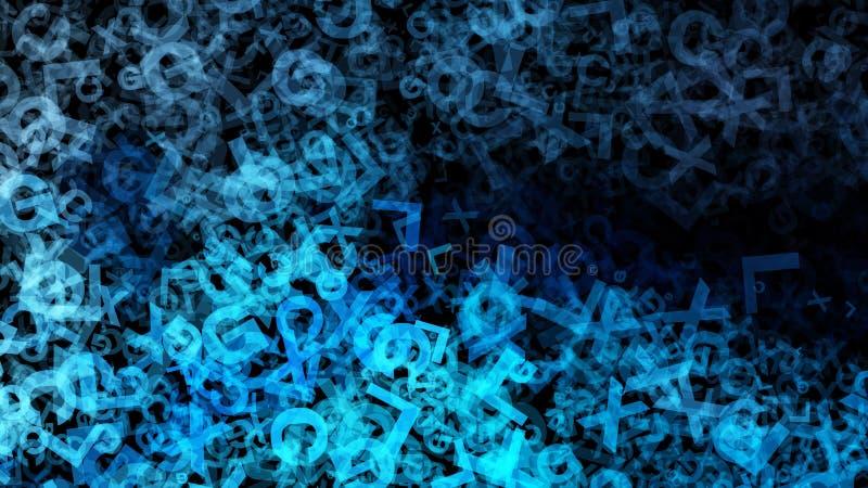 Fondo elegante hermoso del diseño del arte gráfico del ejemplo de la turquesa del fondo azul del organismo ilustración del vector