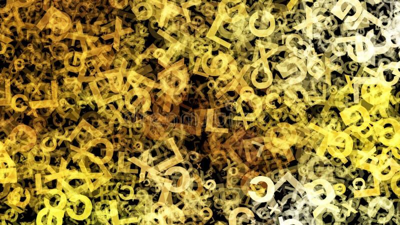 Fondo elegante hermoso del diseño del arte gráfico del ejemplo del modelo del fondo amarillo del organismo ilustración del vector