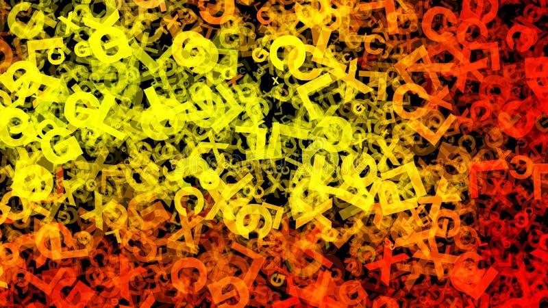Fondo elegante hermoso del diseño del arte gráfico del ejemplo del organismo del fondo amarillo del modelo ilustración del vector