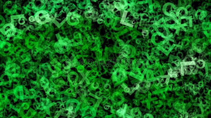 Fondo elegante hermoso del dise?o del arte gr?fico del ejemplo del fondo del organismo de la hierba verde libre illustration