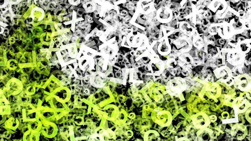 Fondo elegante hermoso del dise?o del arte gr?fico del ejemplo del organismo del fondo verde del modelo libre illustration