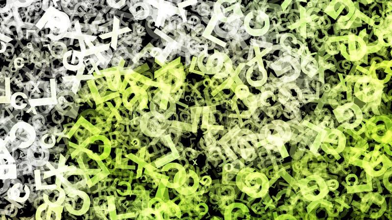 Fondo elegante hermoso del dise?o del arte gr?fico del ejemplo del organismo del fondo verde del modelo ilustración del vector