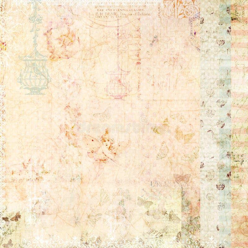 Fondo elegante lamentable rosado con las mariposas ilustración del vector