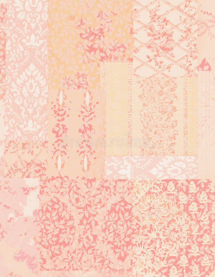 Fondo elegante lamentable rosado del papel pintado floral del vintage ilustración del vector