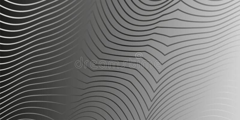 Fondo elegante linear tranquilo en monocromo stock de ilustración