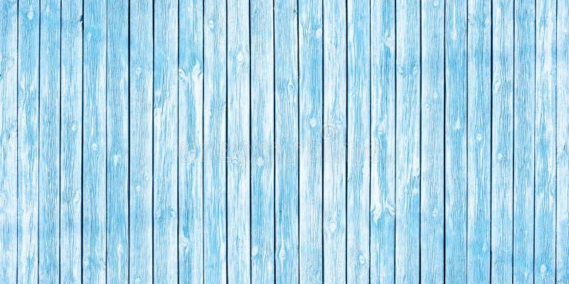 Fondo elegante misero di vecchie plance di legno dipinte delicatamente in blu fotografie stock libere da diritti