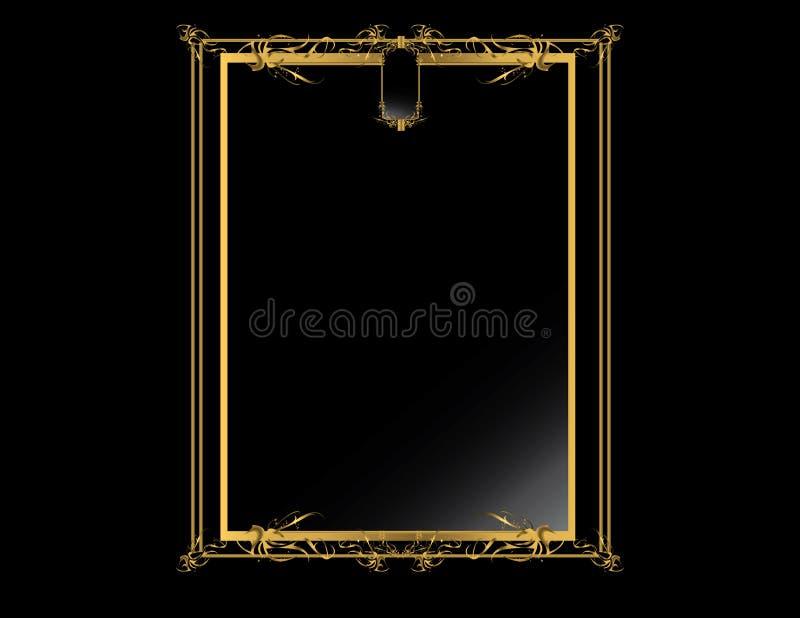 Fondo elegante negro 4 del oro libre illustration