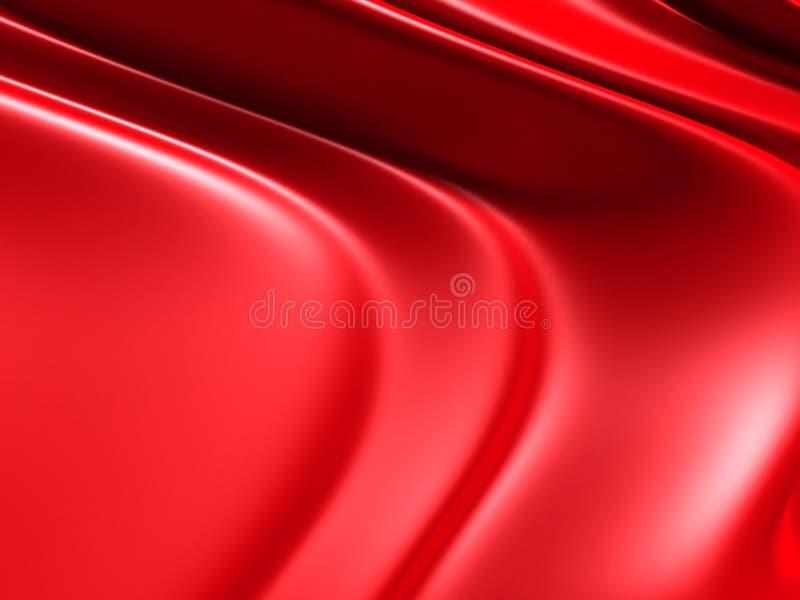 Fondo elegante rosso con le onde e le linee regolari illustrazione vettoriale