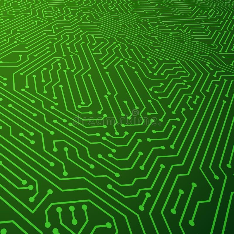 Fondo elettrico di vettore di schema Concetto delle componenti del circuito illustrazione vettoriale