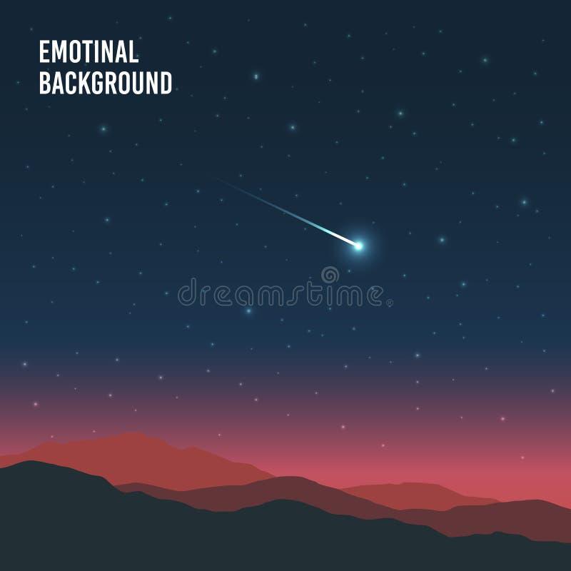 Fondo emocional del paisaje stock de ilustración