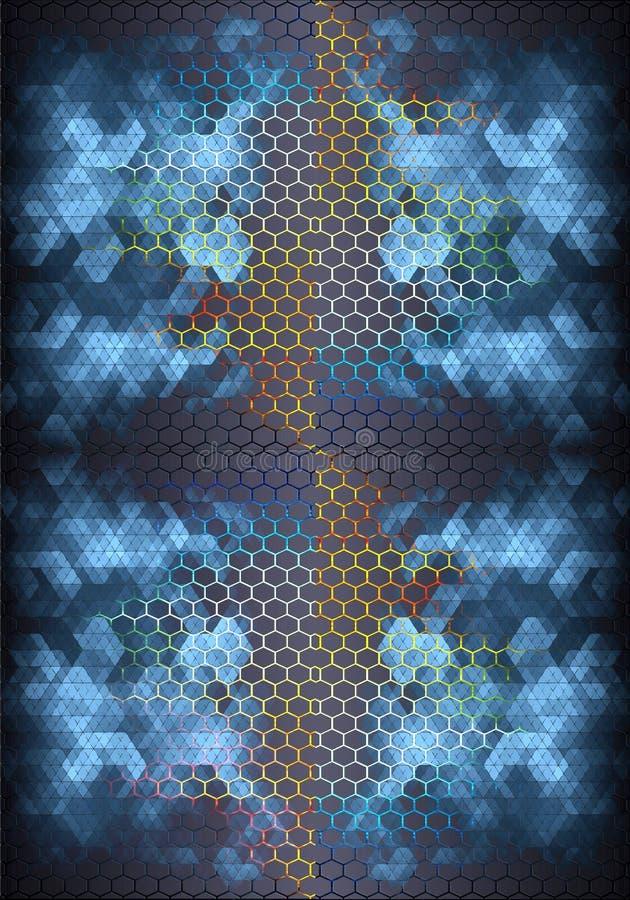 fondo enérgico brillante moderno multicolor liso único generado por ordenador de los modelos de los fractales 3d ilustración del vector