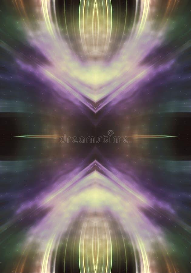 Fondo enérgico colorido puro generado por ordenador artístico abstracto del fractal 3d ilustración del vector