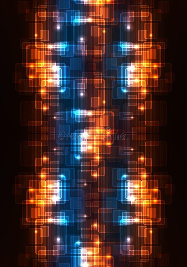 fondo enérgico futurista moderno multicolor único generado por ordenador de los modelos de los fractales 3d ilustración del vector