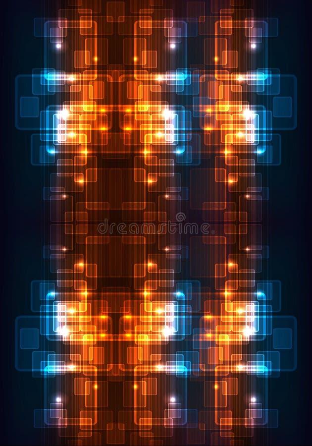Fondo enérgico futurista moderno multicolor generado por ordenador único abstracto de los modelos de los fractales 3d ilustración del vector